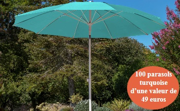 parasol turquoise photo