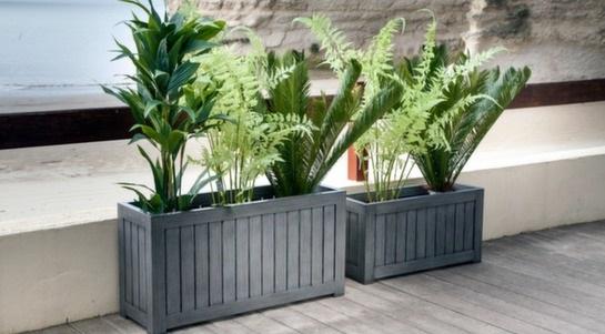 balcon en jardin jardinières photo