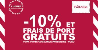 Offre exceptionnelle Proloisirs 2017