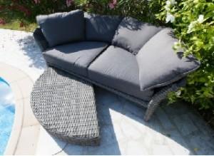 Mobilier de jardin des amoureux canapé-lit visuel 1