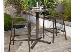 Mobilier de jardin des amoureux table haute visuel