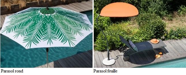 choisir un parasol formes