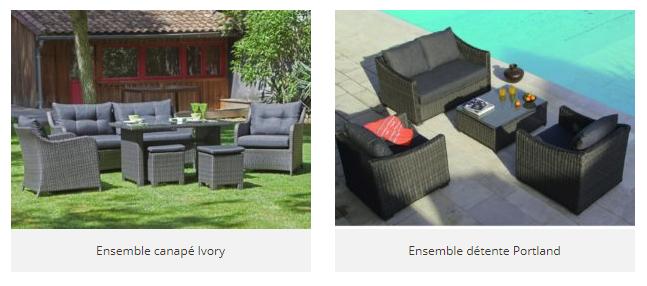gris mobilier de jardin gris canapé ivory et ensemble de détente Protland