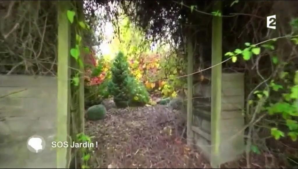 notre mobilier de jardin à la télévision version avant entrée