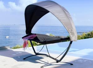 hamac avec ombrelle pour piscine
