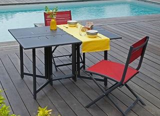 mobilier pour blacon table Caly et Chaise de jardin théma 1