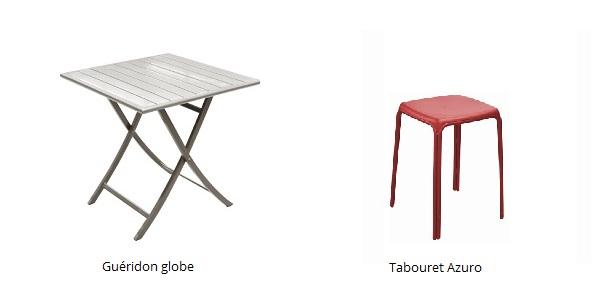 meubler un studio d'étudiant guéridon Globe et tabouret azuro