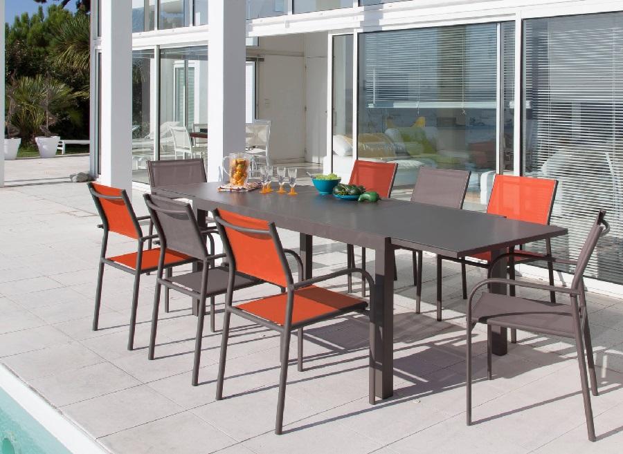 mobilier de jardin aux couleurs de l'automne fauteuil Duca
