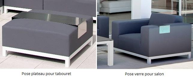 mobilier de jardin malin table pose plateau et pose verre