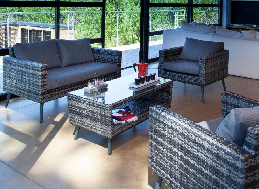 Set lounge Combi avec canapé, 2 fauteuils et table basse