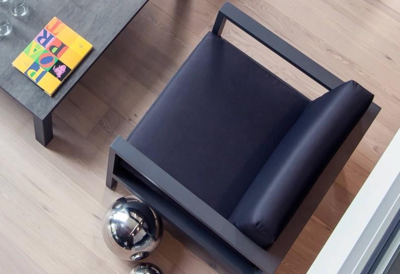 Set lounge castille fauteuil et table basse