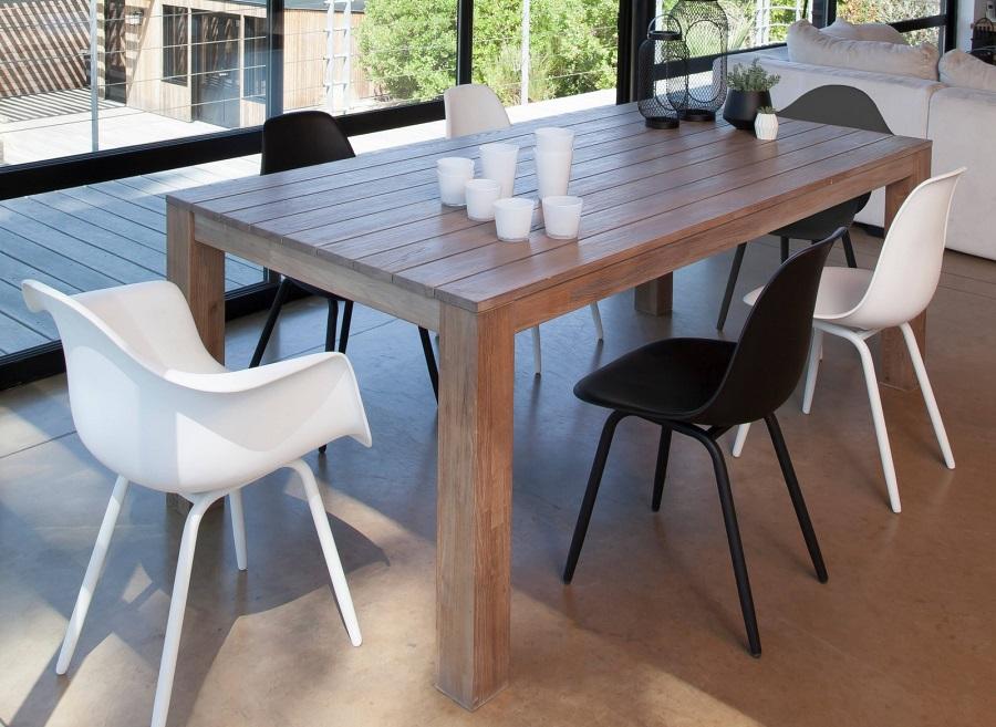 déco scandinave chaise et fauteuil moss et table Kéa