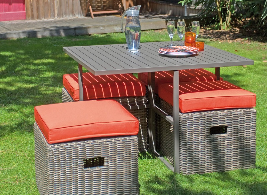 mobilier de jardin design ensemble de repas cubio