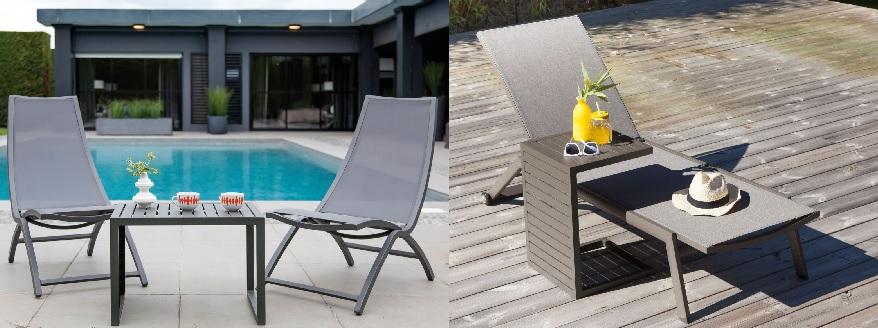 mobilier de jardin design table Lou Side