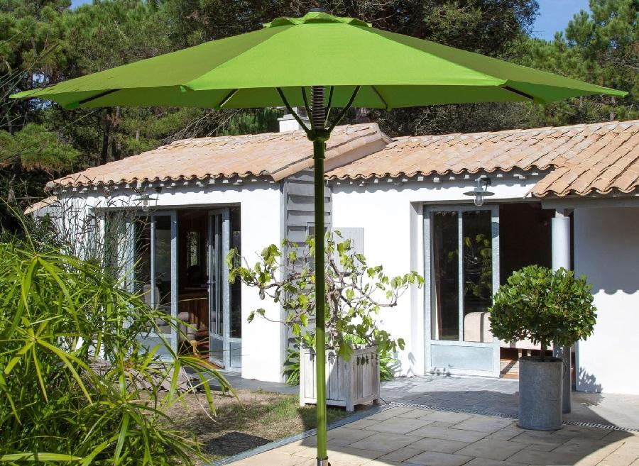 bonnes affaires en mobilier de jardin parasol droit