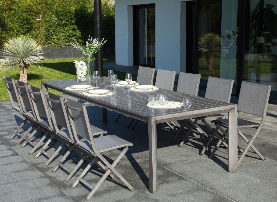 mobilier de jardin pour faire la fête table Milan 260-305cm