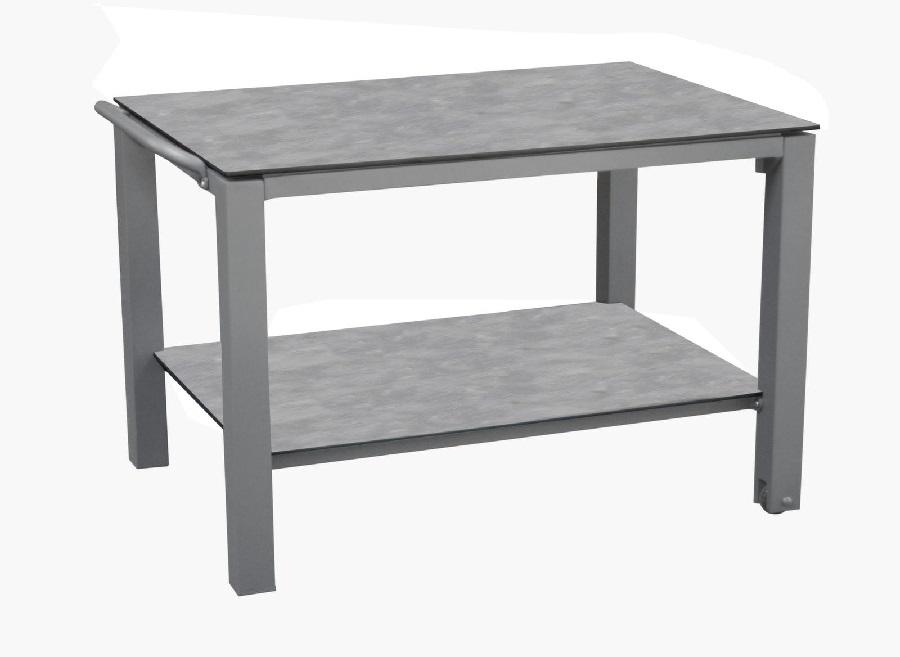 mobilier de jardin pour faire la fête table plancha
