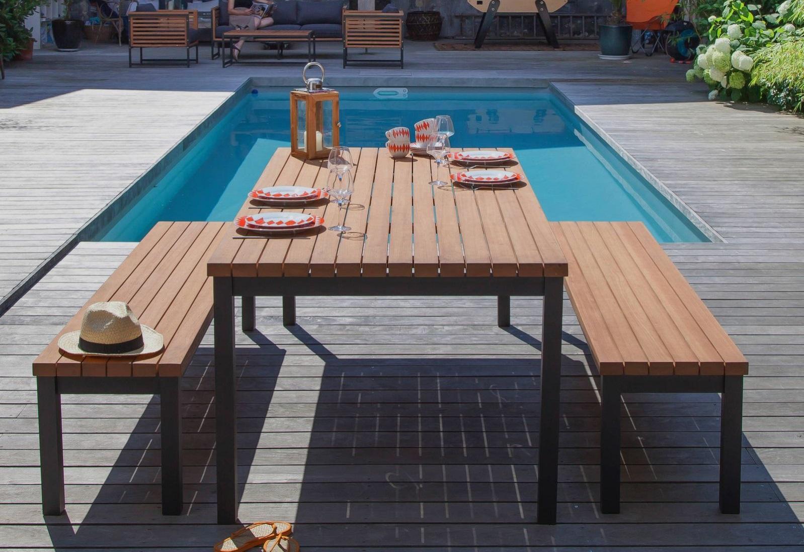 le banc un mobilier de jardin tendance le blog. Black Bedroom Furniture Sets. Home Design Ideas