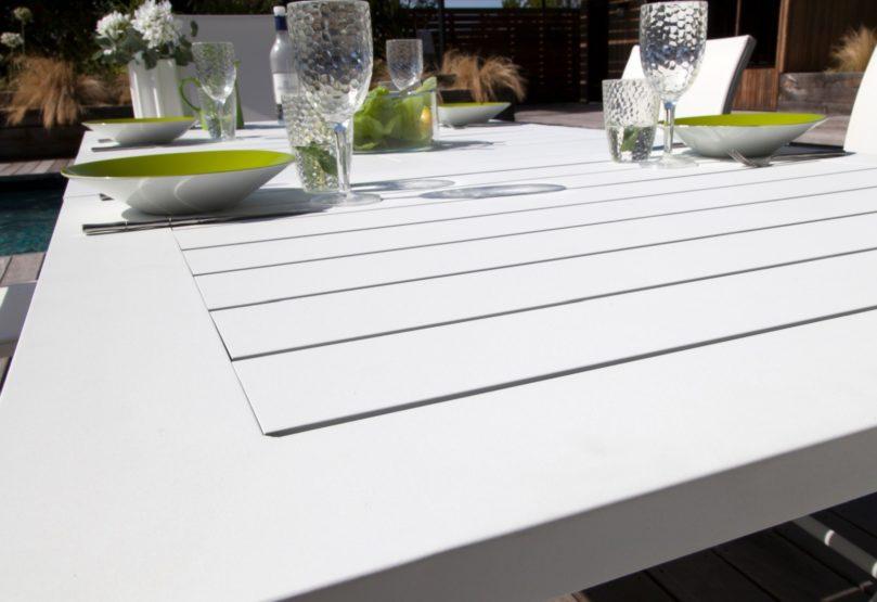 meubles de jardin blancs Proloisirs