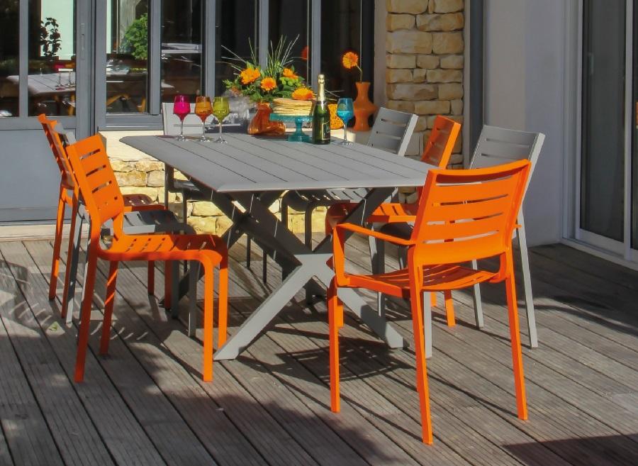 Salon de jardin en aluminium chaise fauteuil de jardin Belhara Proloisirs