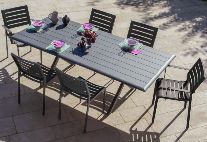 Salon de jardin en aluminium : un matériau fait pour l\'extérieur ...