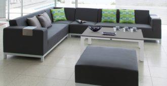 créer un salon cocooning canapé d'angle belle-île proloisirs