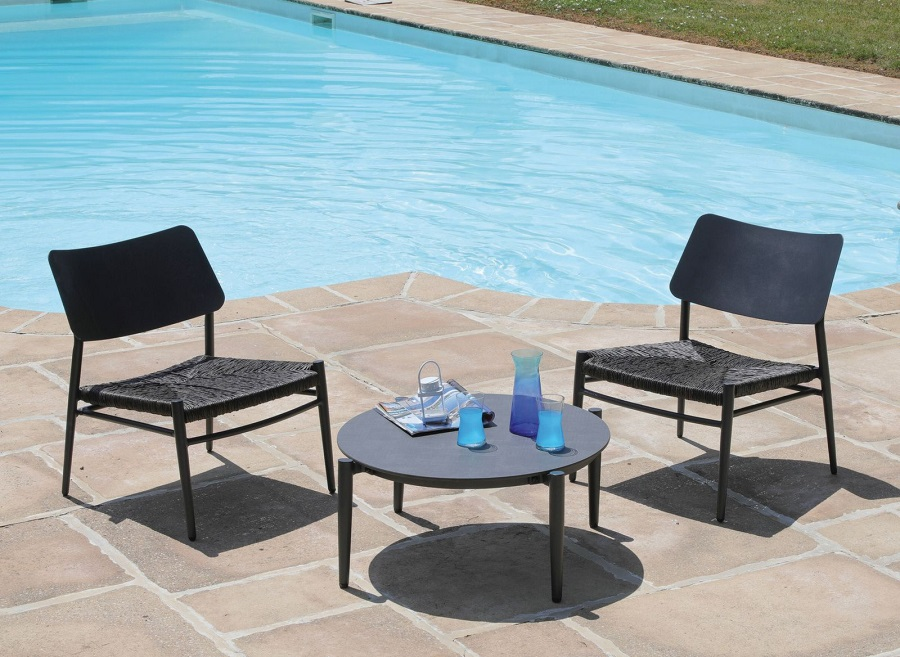 Petit meuble design chaise lounge dublin black Proloisirs