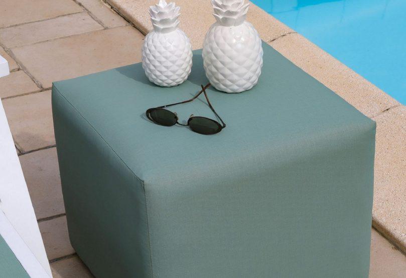 petits meubles de jardin pouf tabouret proloisirs