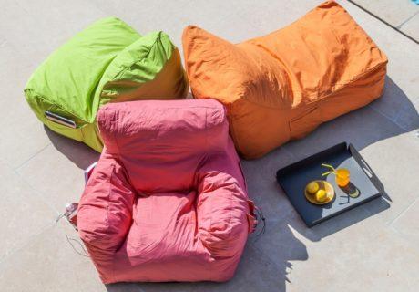 Du mobilier pour une rentrée Fauteuil et chaise pouf Malibu