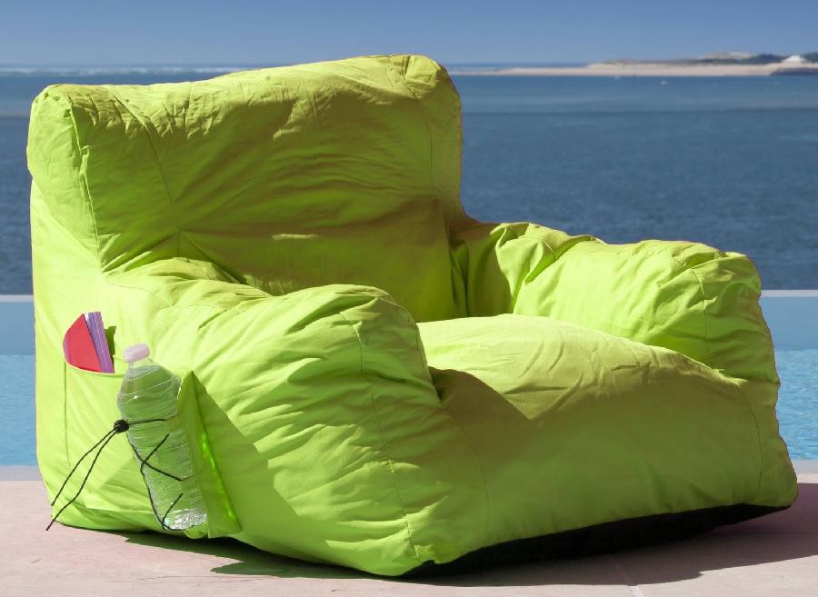 Du mobilier pour le confort Fauteuil pouf Malibu