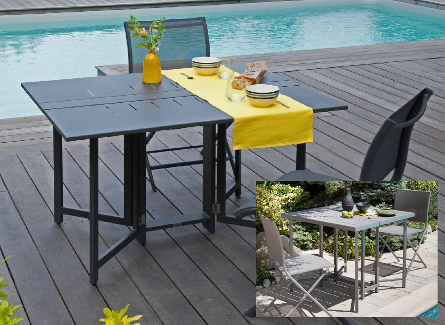 table pliante guéridon rectangulaire ou carré Caly Proloisirs